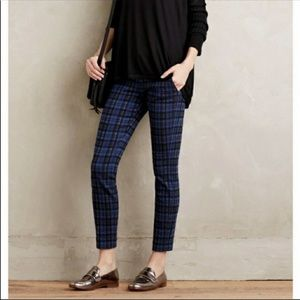 Cartonnier Anthropologie trouser plaid blue 10